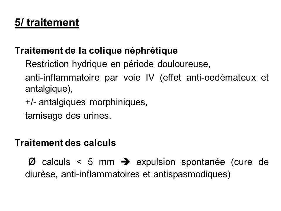 5/ traitement Traitement de la colique néphrétique