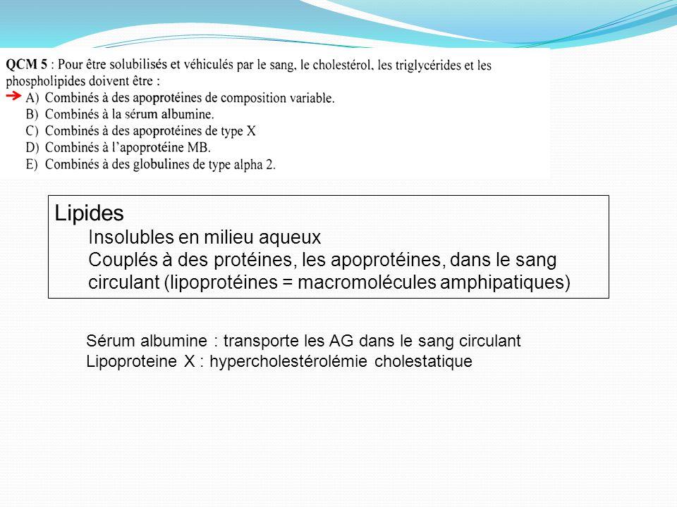Lipides Insolubles en milieu aqueux