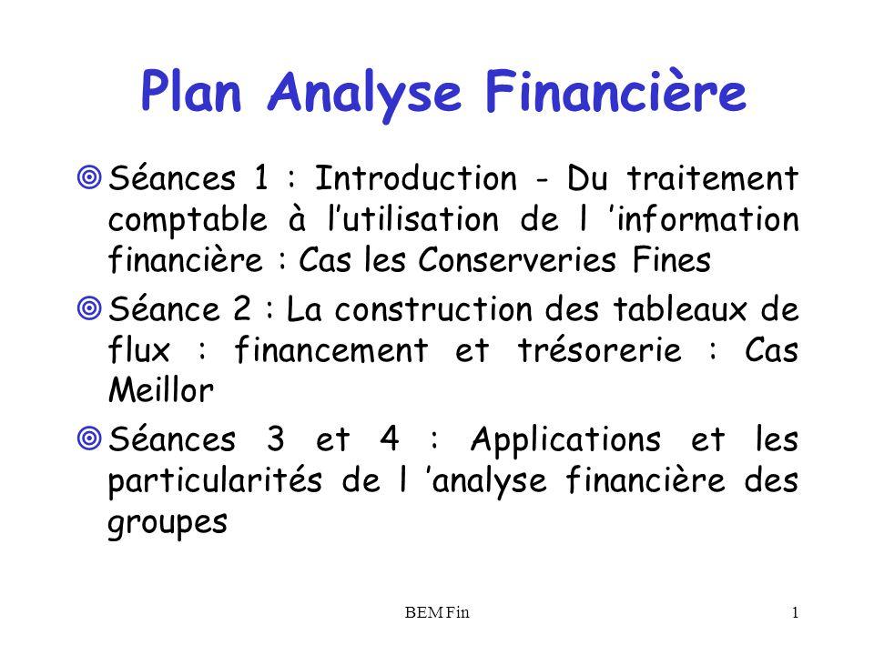 Plan Analyse Financière