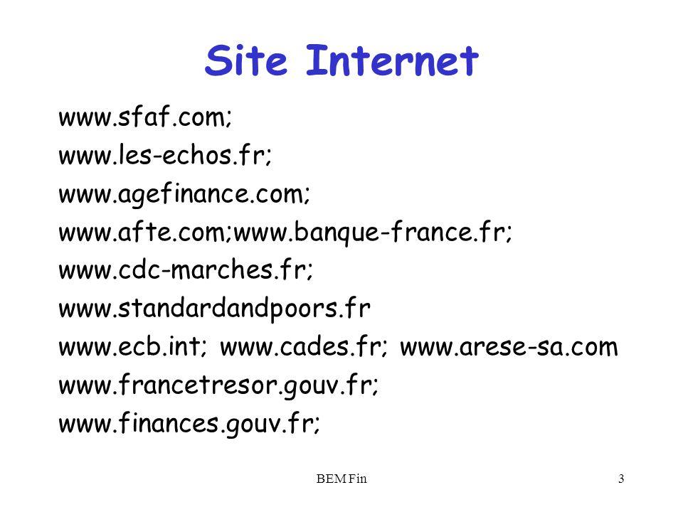 Site Internet www.sfaf.com; www.les-echos.fr; www.agefinance.com;