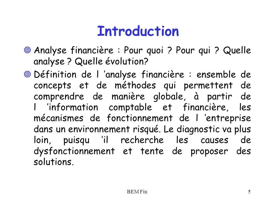Introduction Analyse financière : Pour quoi Pour qui Quelle analyse Quelle évolution