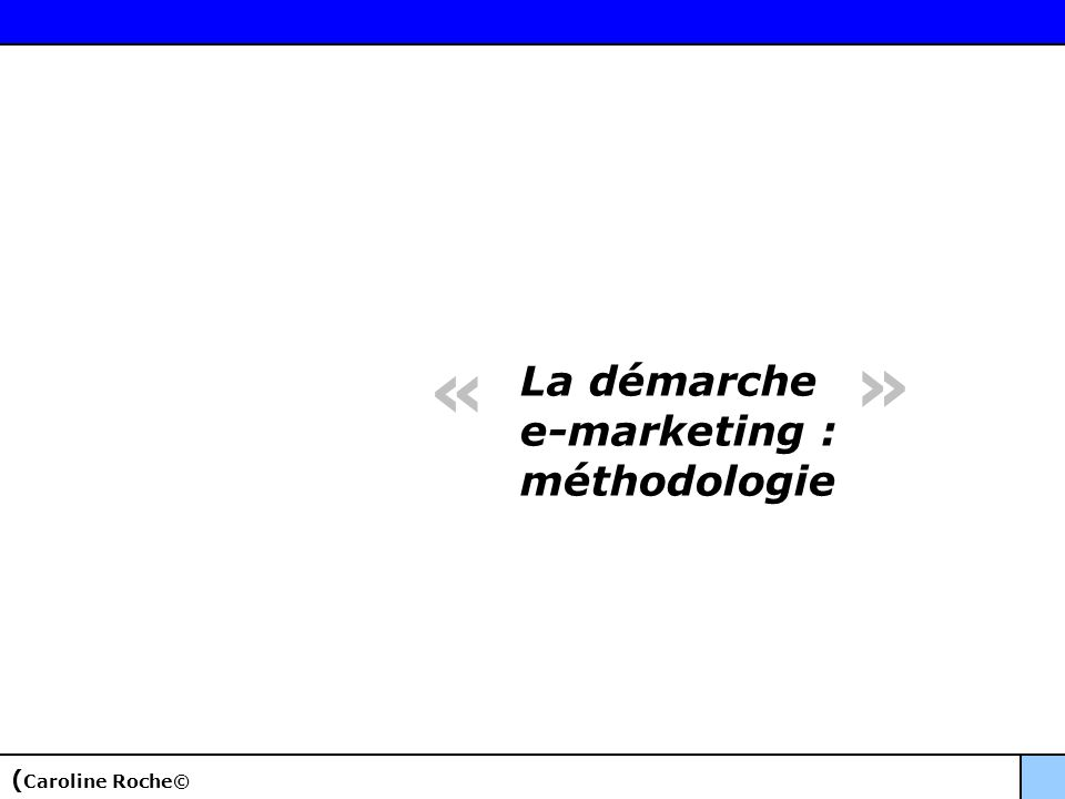 « » La démarche e-marketing : méthodologie (Caroline Roche©