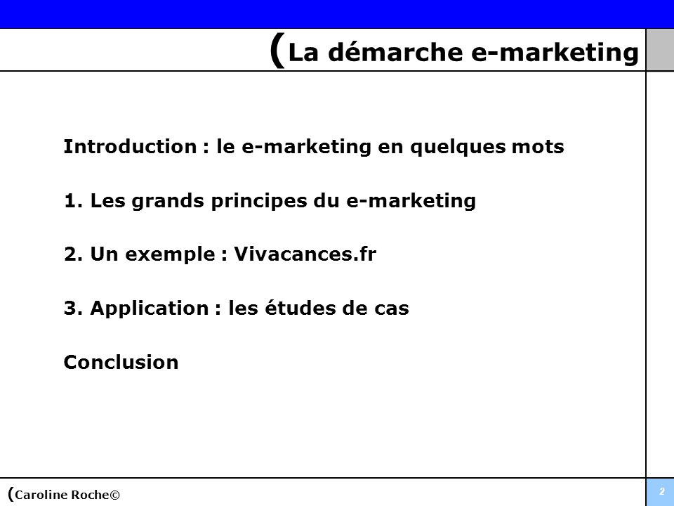 (La démarche e-marketing