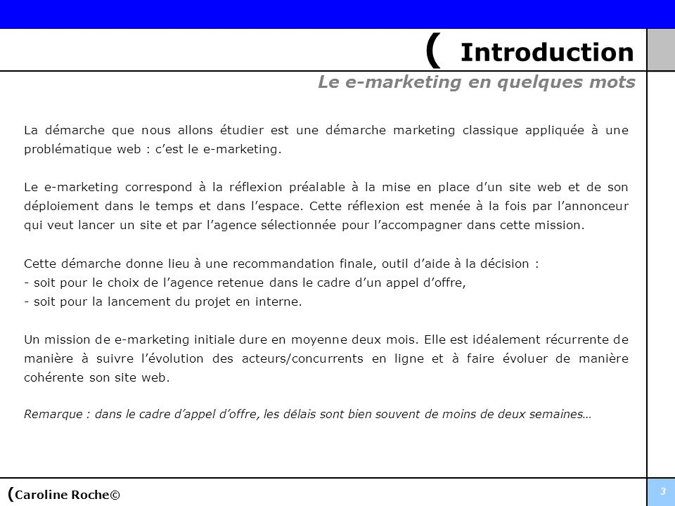 ( Introduction Le e-marketing en quelques mots (Caroline Roche©