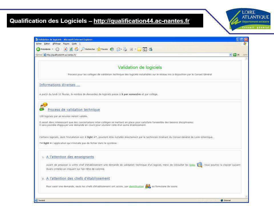 Qualification des Logiciels – http://qualification44.ac-nantes.fr