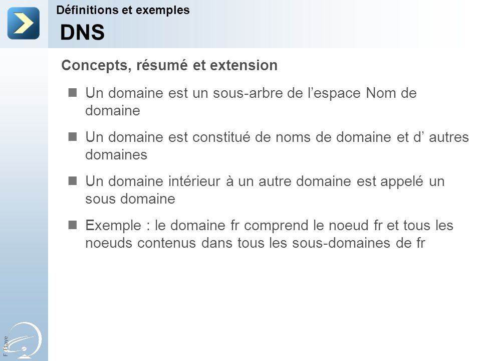 DNS Concepts, résumé et extension