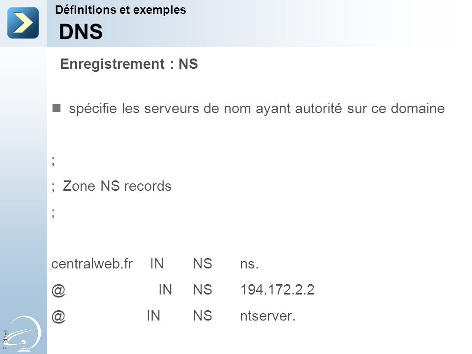 DNS Enregistrement : NS