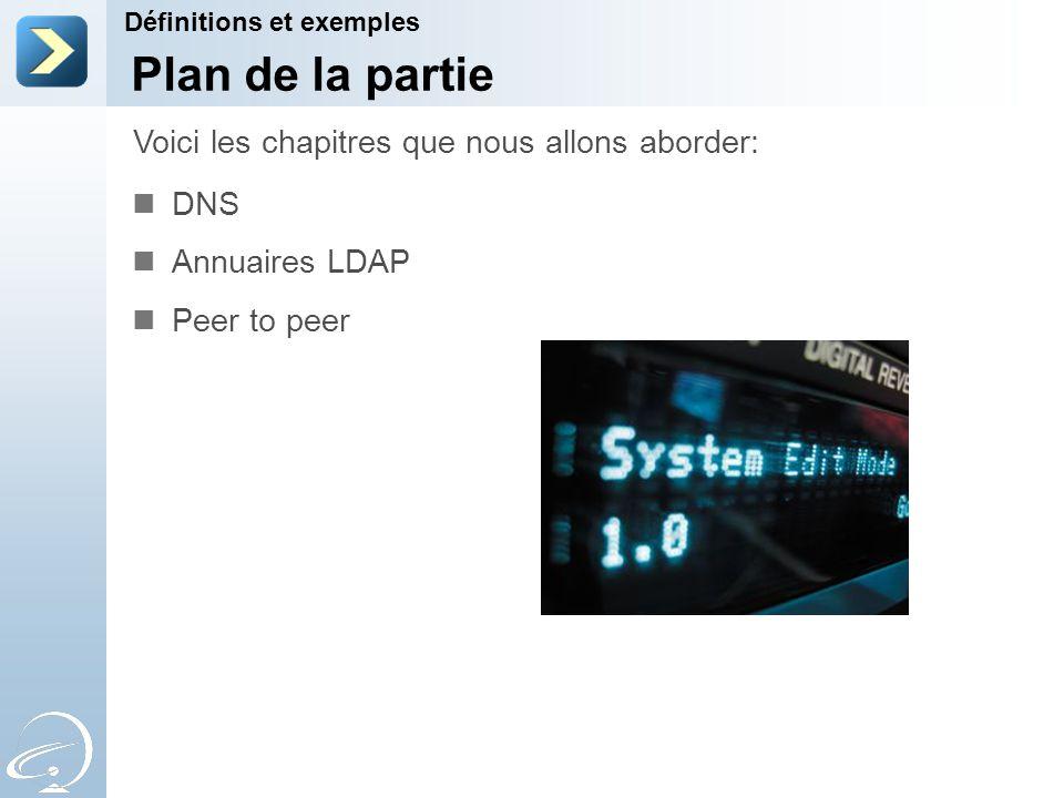Plan de la partie Voici les chapitres que nous allons aborder: DNS