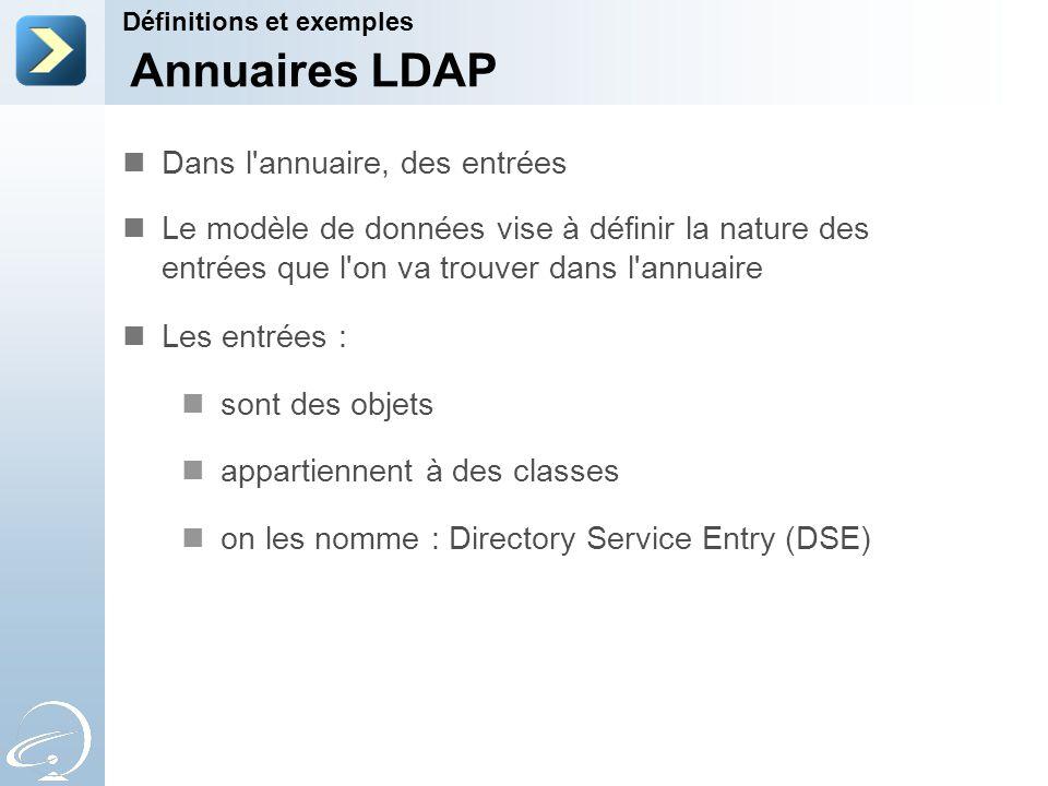 Annuaires LDAP Dans l annuaire, des entrées