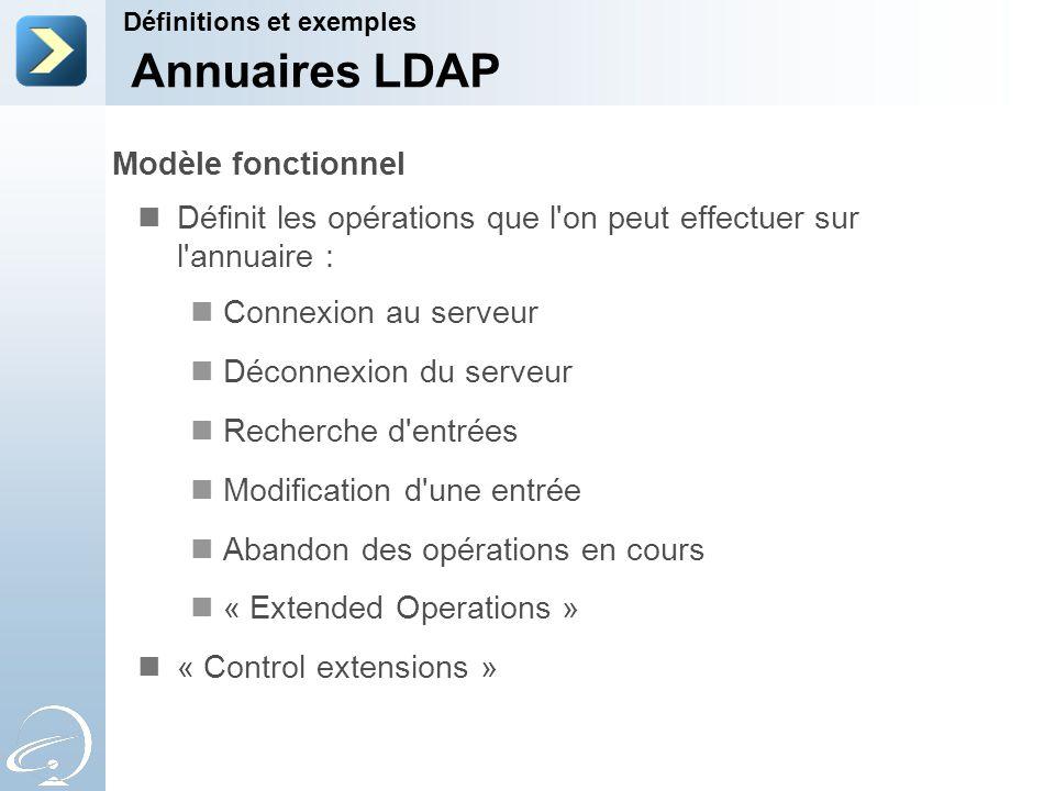 Annuaires LDAP Modèle fonctionnel