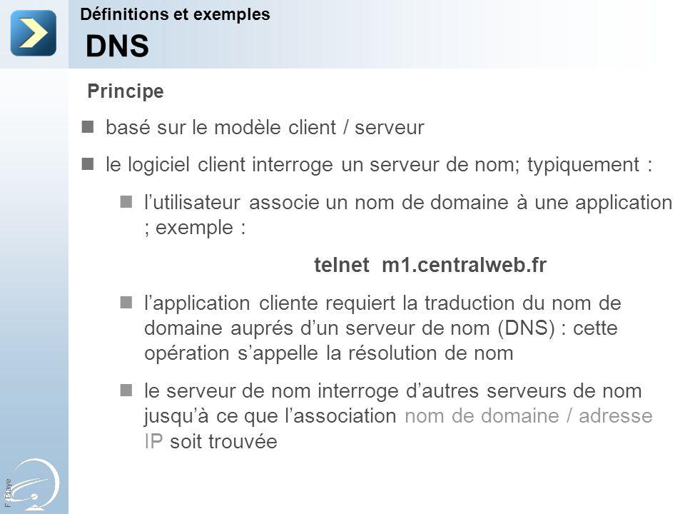 DNS basé sur le modèle client / serveur