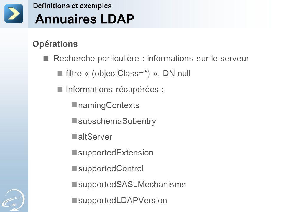 Annuaires LDAP Opérations