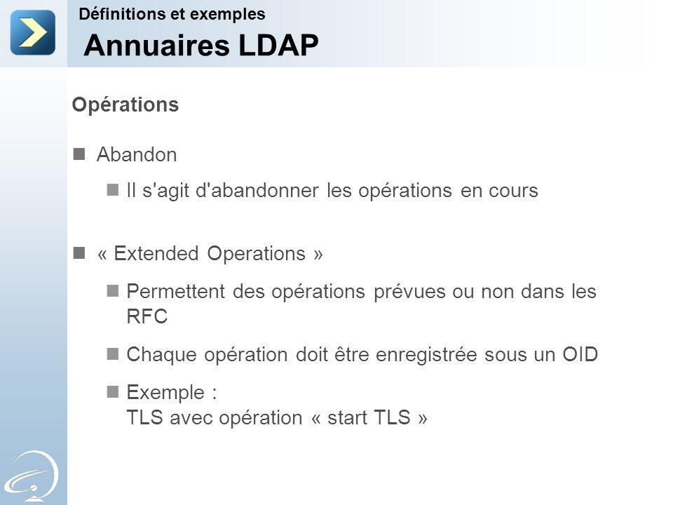 Annuaires LDAP Opérations Abandon