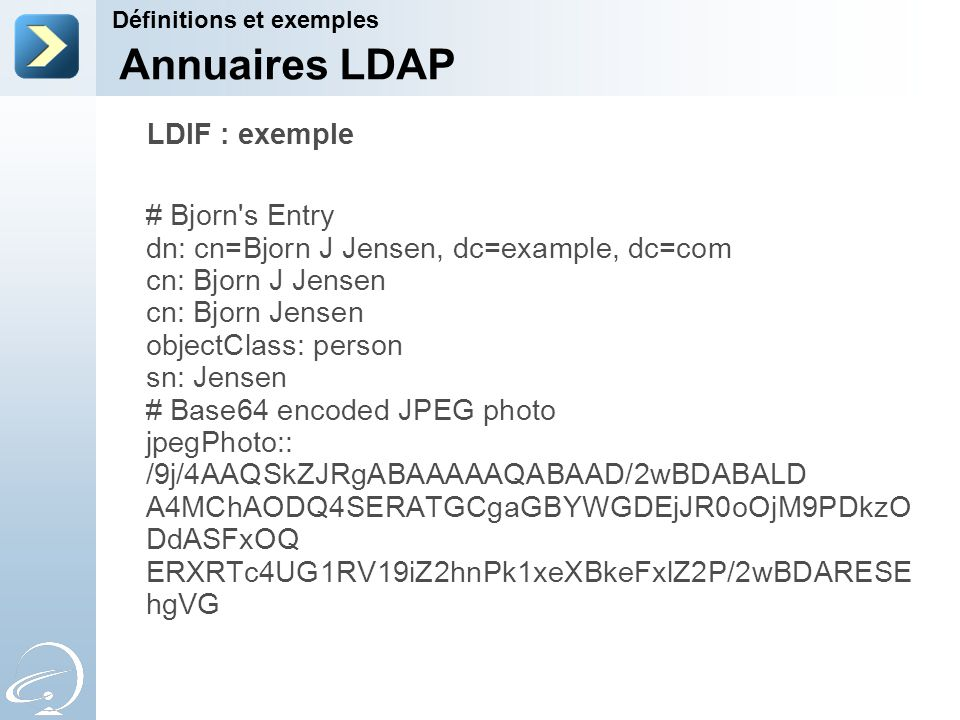 Annuaires LDAP LDIF : exemple