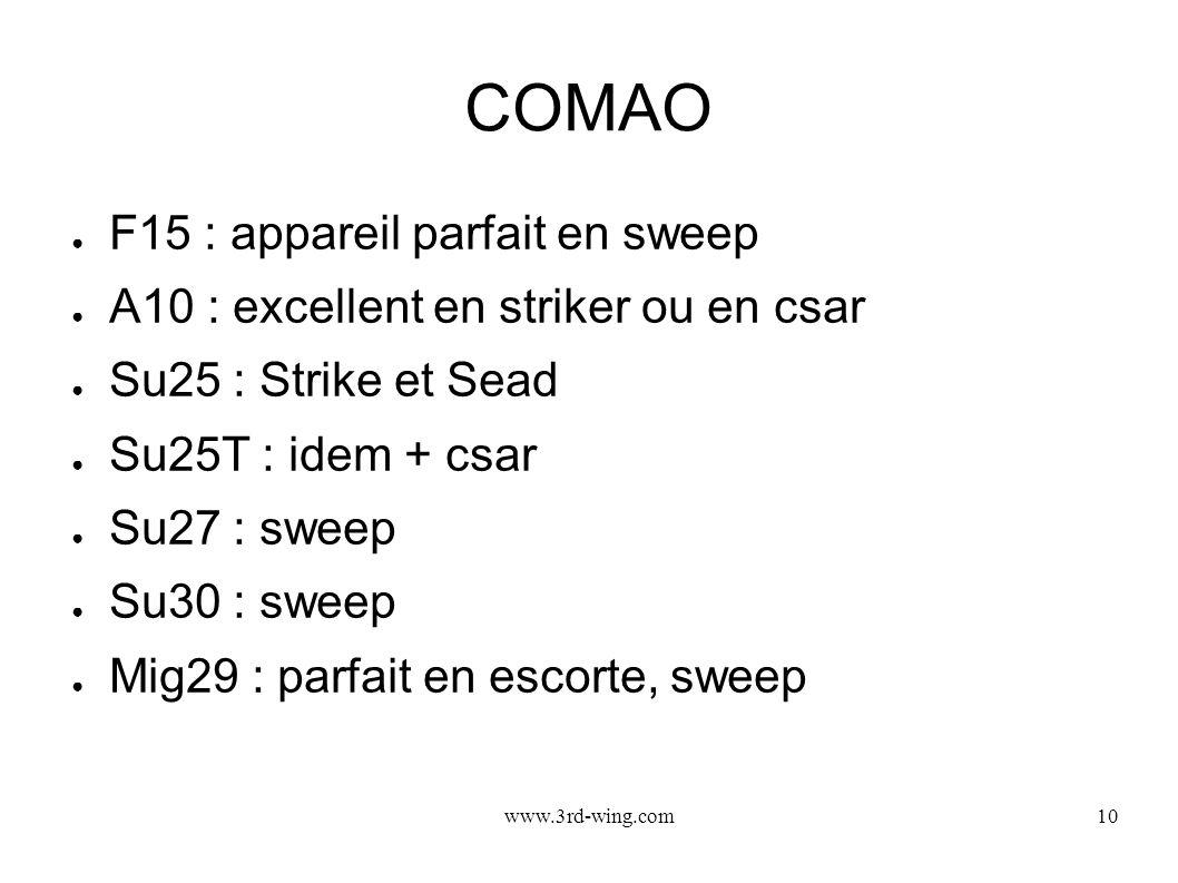 COMAO F15 : appareil parfait en sweep