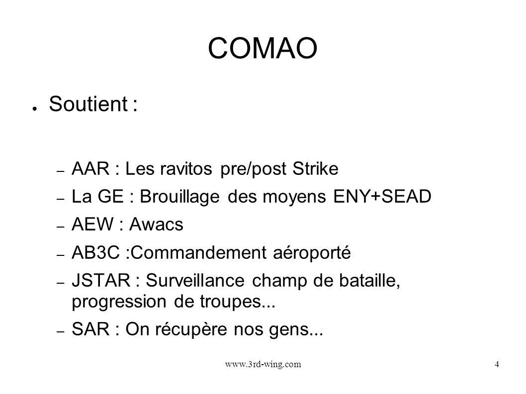 COMAO Soutient : AAR : Les ravitos pre/post Strike