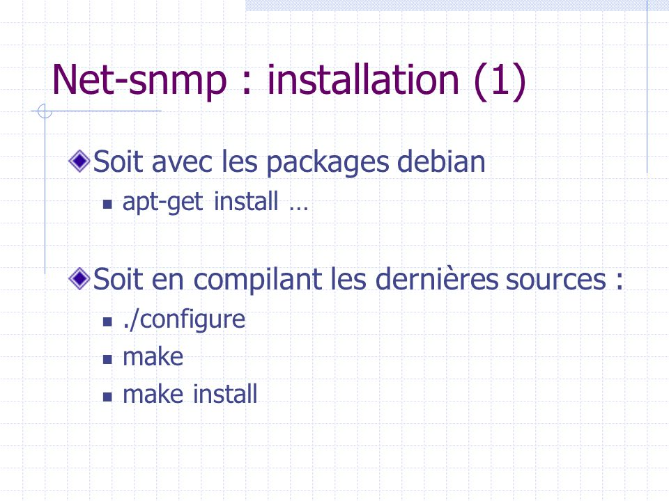 Net-snmp : installation (1)