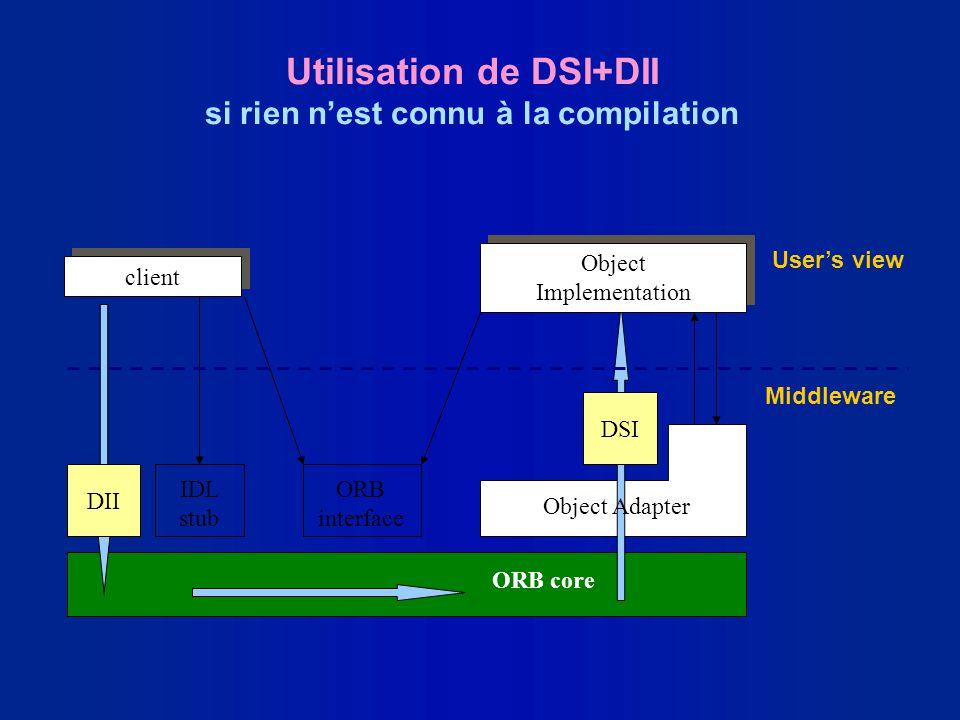 Utilisation de DSI+DII si rien n'est connu à la compilation