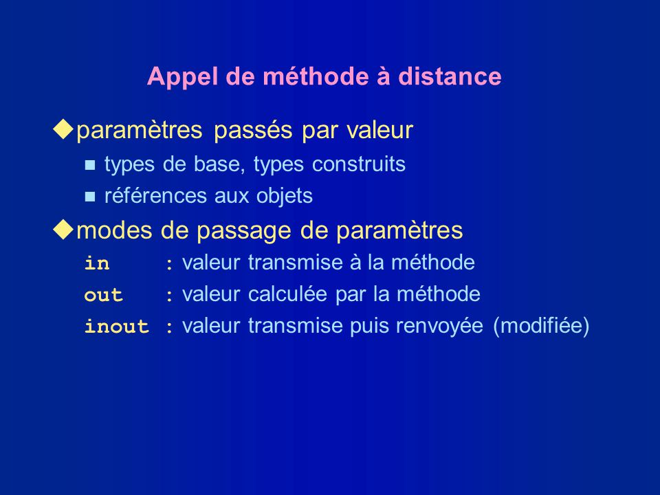 Appel de méthode à distance