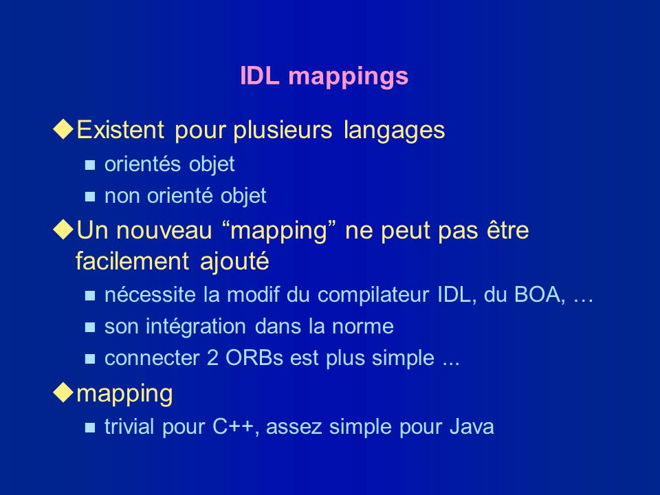 Existent pour plusieurs langages