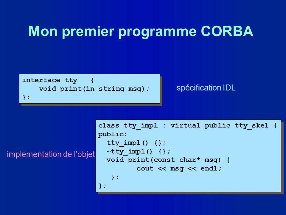 Mon premier programme CORBA