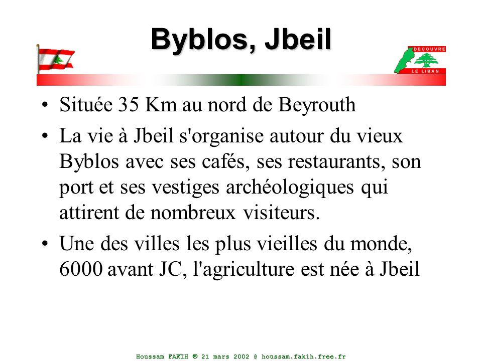Byblos, Jbeil Située 35 Km au nord de Beyrouth