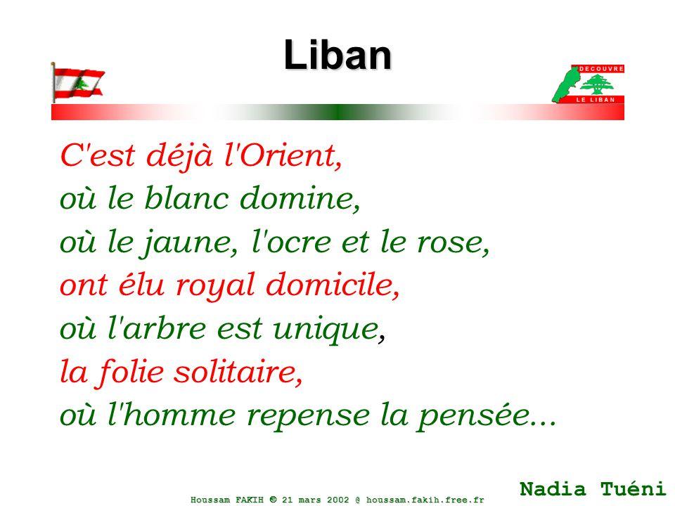 Liban C est déjà l Orient, où le blanc domine,