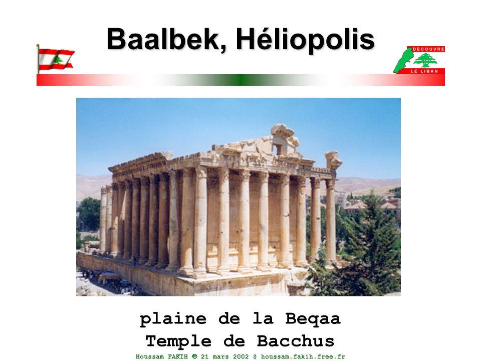 plaine de la Beqaa Temple de Bacchus