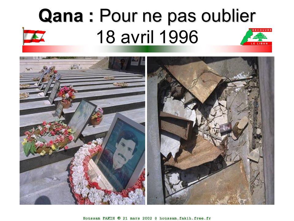 Qana : Pour ne pas oublier 18 avril 1996