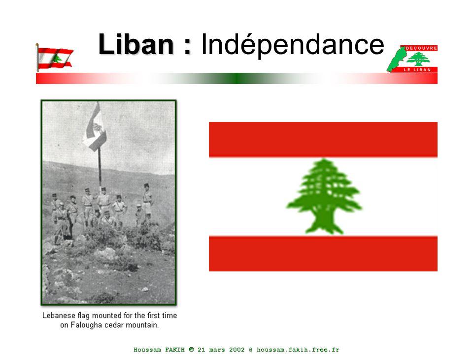 Liban : Indépendance