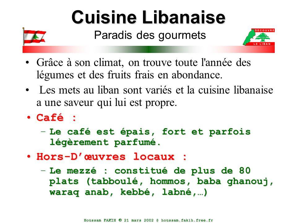 Cuisine Libanaise Paradis des gourmets