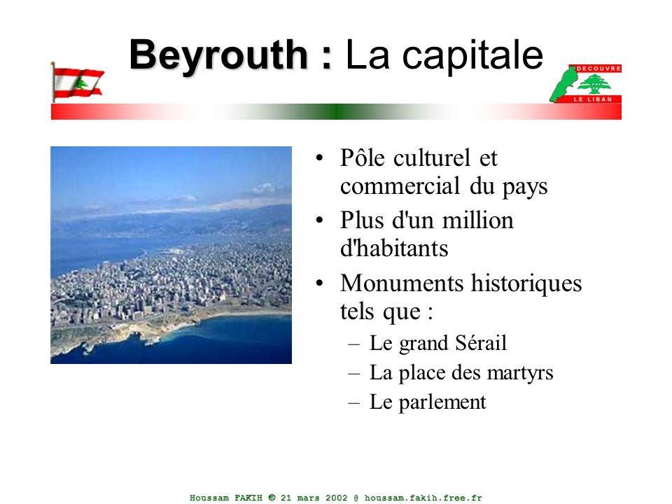 Beyrouth : La capitale Pôle culturel et commercial du pays