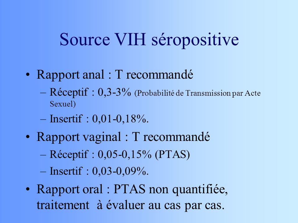 Source VIH séropositive