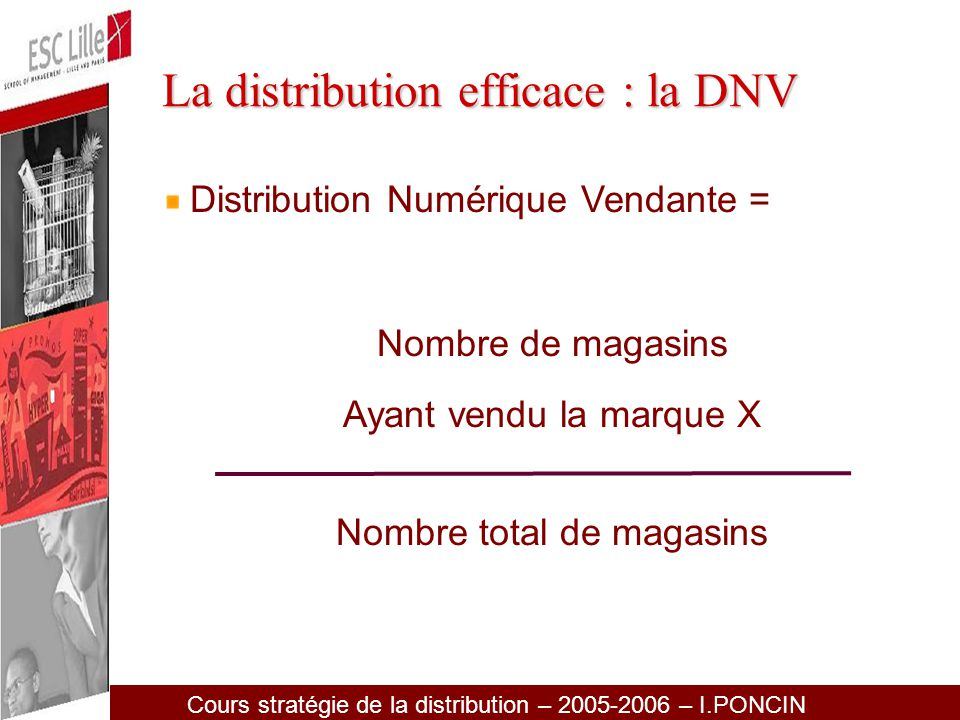 La distribution efficace : la DNV