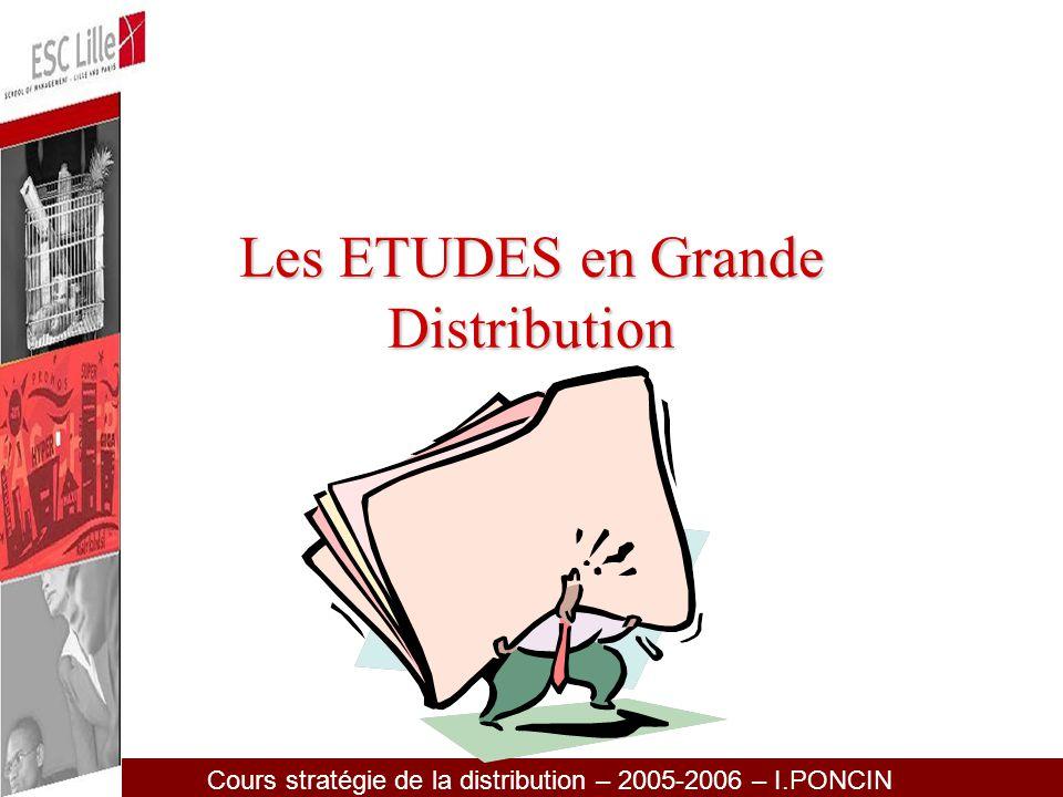 Les ETUDES en Grande Distribution