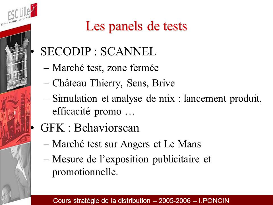 Les panels de tests SECODIP : SCANNEL GFK : Behaviorscan