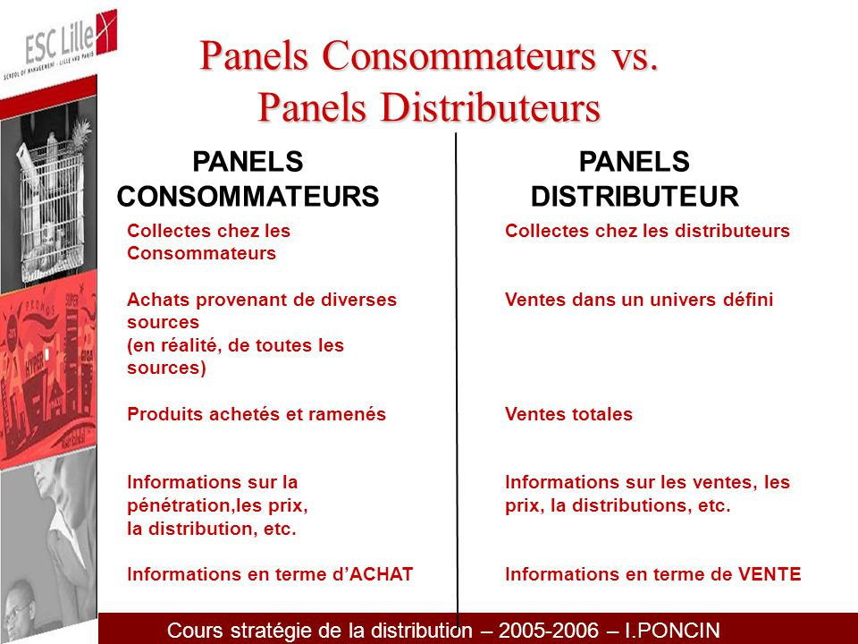 Panels Consommateurs vs. Panels Distributeurs
