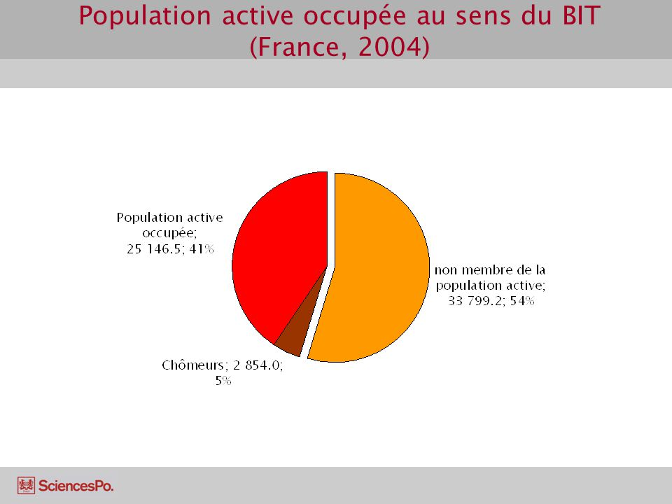 Population active occupée au sens du BIT (France, 2004)