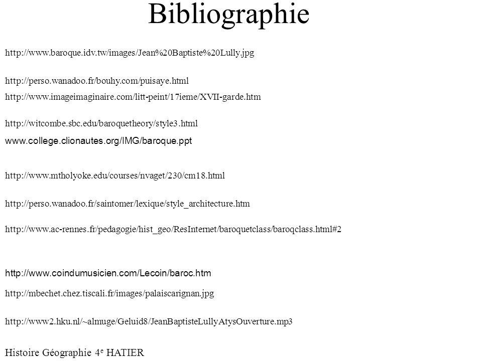 Bibliographie Histoire Géographie 4e HATIER