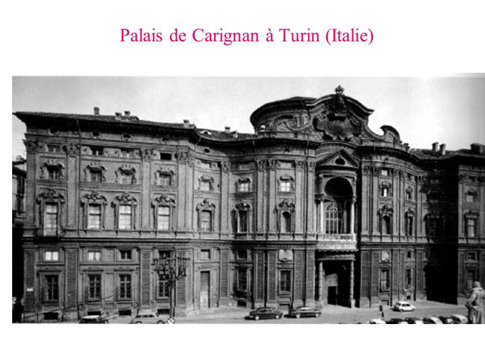 Palais de Carignan à Turin (Italie)
