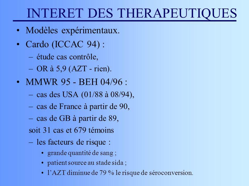 INTERET DES THERAPEUTIQUES