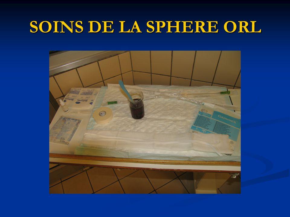 SOINS DE LA SPHERE ORL
