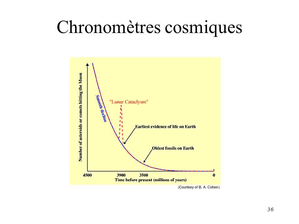 Chronomètres cosmiques