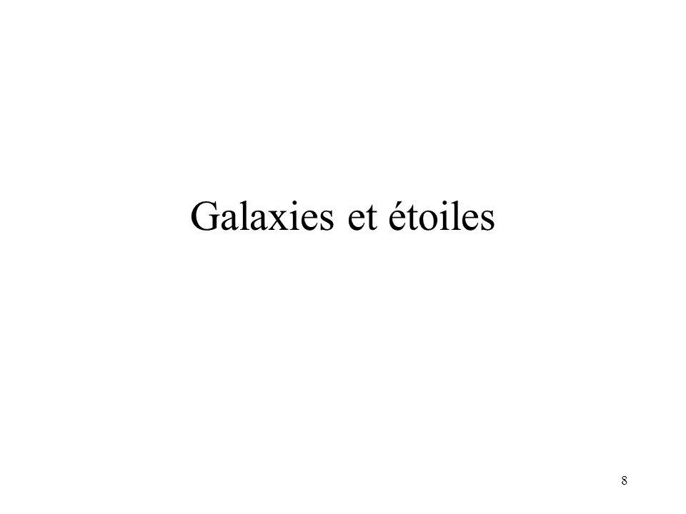 Galaxies et étoiles