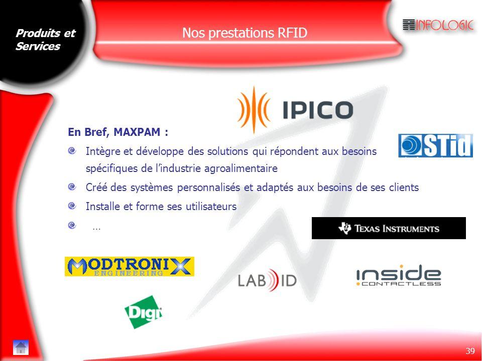 Nos prestations RFID Produits et Services En Bref, MAXPAM :