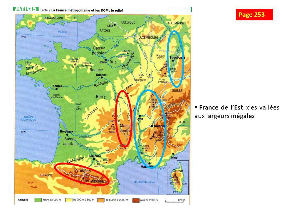 Page 253 France de l'Est :des vallées aux largeurs inégales