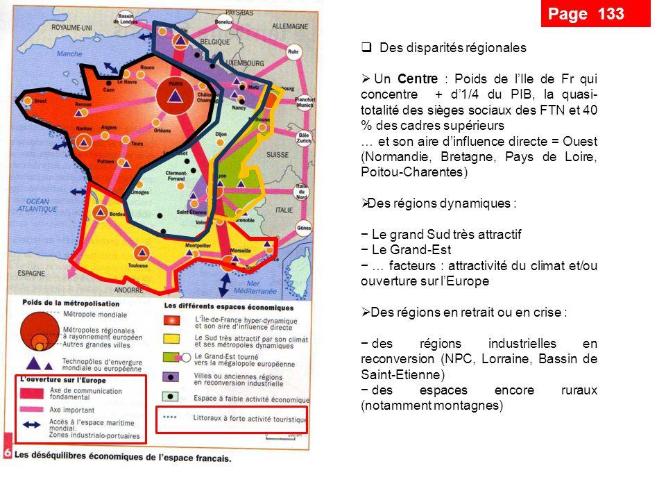 Page 133 Des disparités régionales