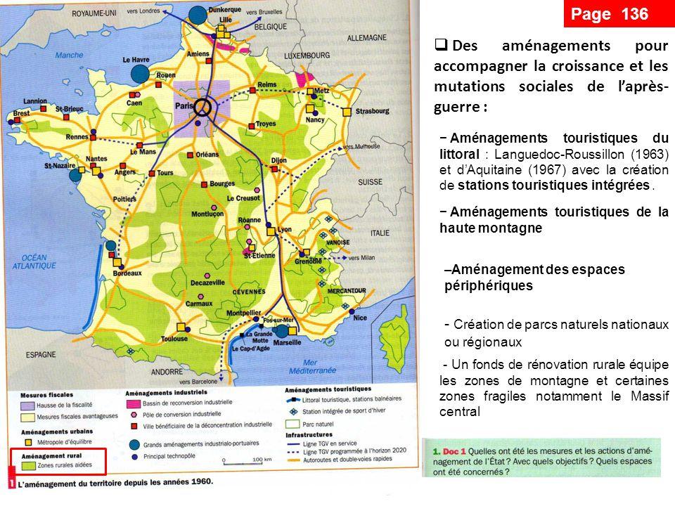 - Création de parcs naturels nationaux ou régionaux