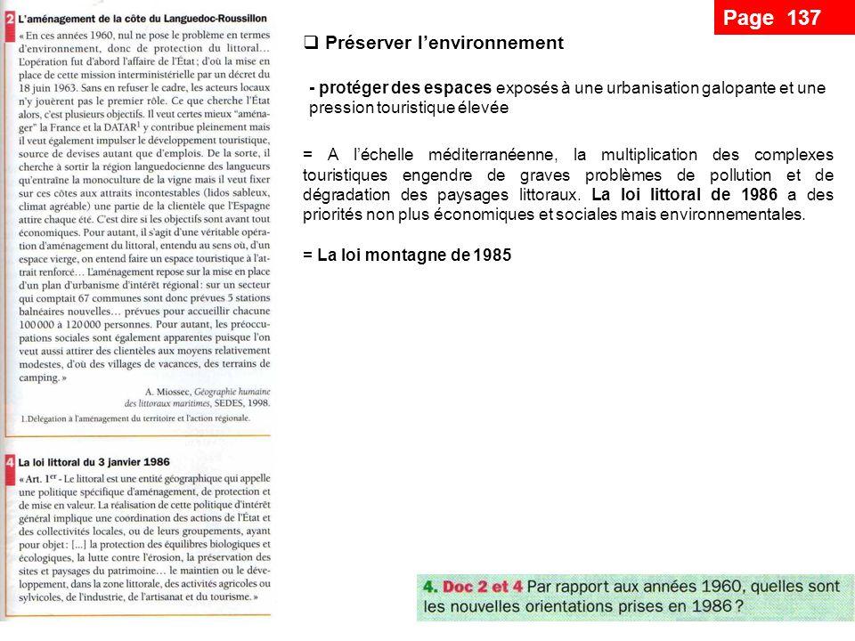 Page 137 Préserver l'environnement