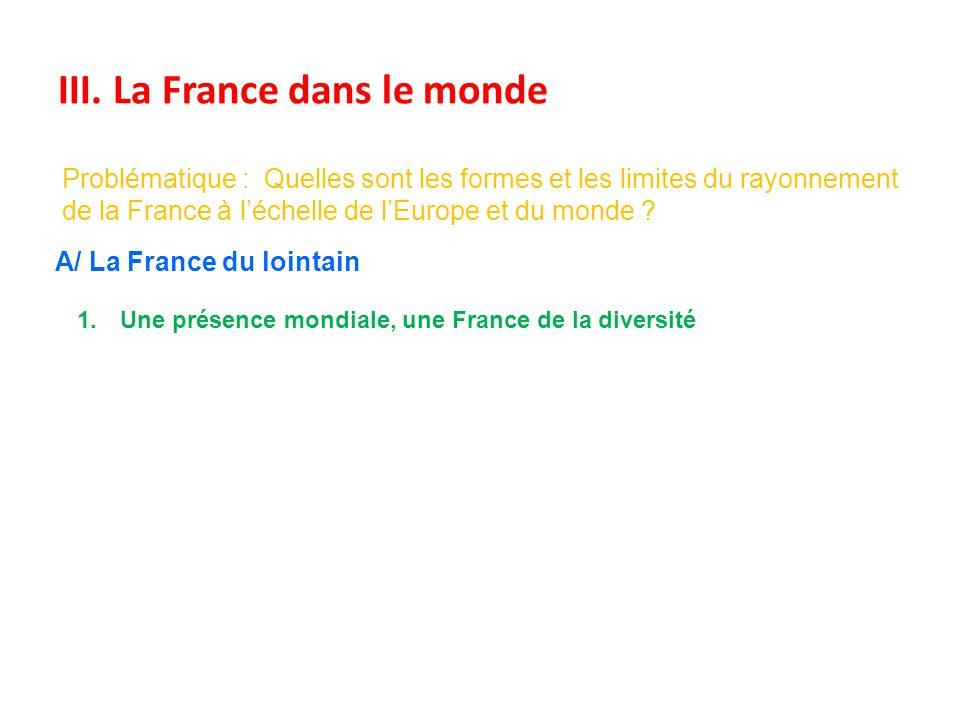 III. La France dans le monde